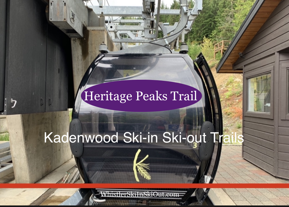 video of ski-in ski-out trail to Heritage Peaks Trail in Kadenwood whistler