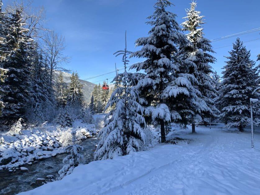 Snowy Creek winter view