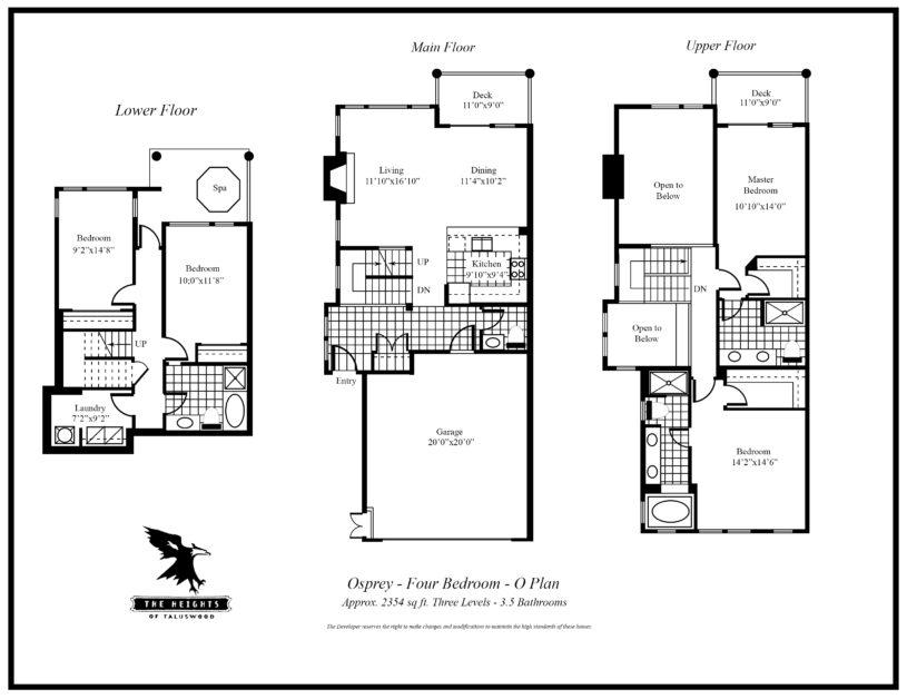 Heights O 4 bedroom floor plan