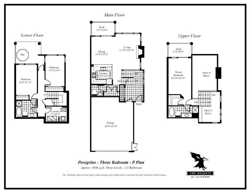 Heights P 3 bedroom floor plan