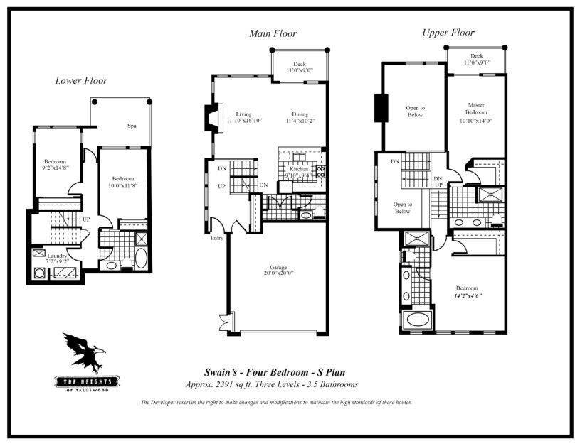 Heights S 4 bedroom floor plan