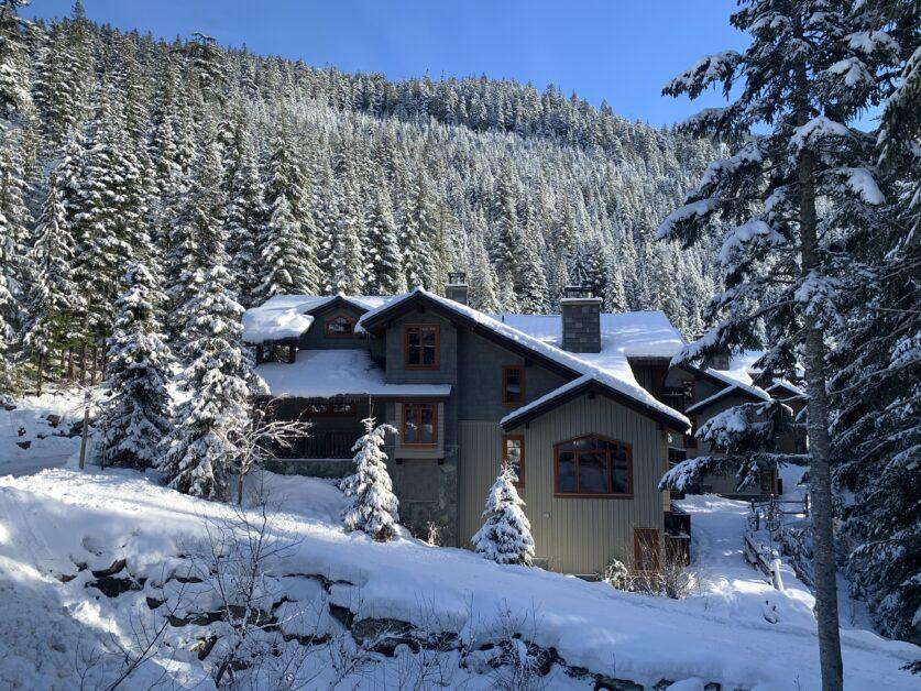 Ski trail in to whistler mountain
