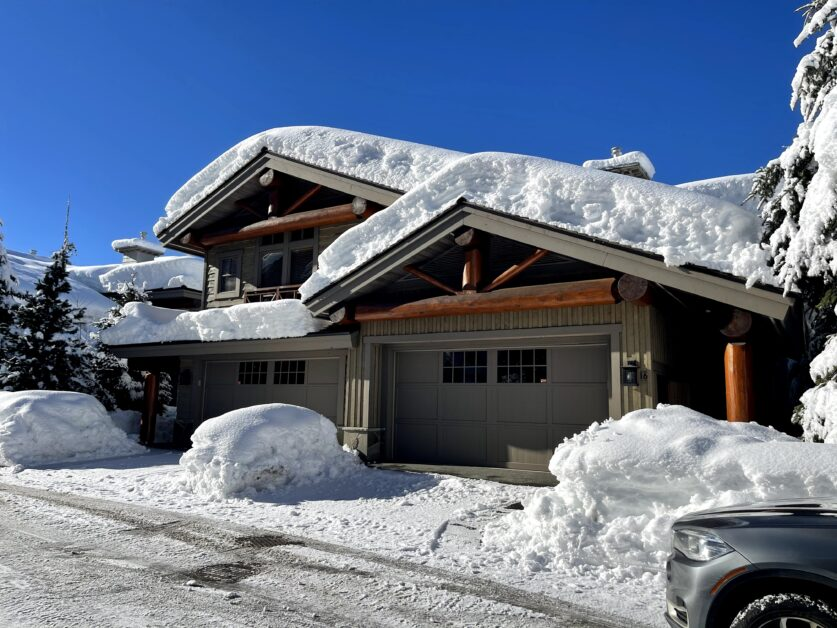 Heights front row with double car garage and snow
