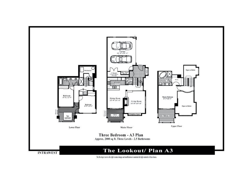 Lookout 3 bedroom floor plan