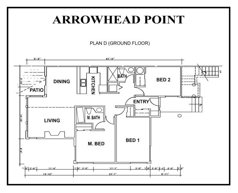 ARROWHEAD-point floor PLAN-D