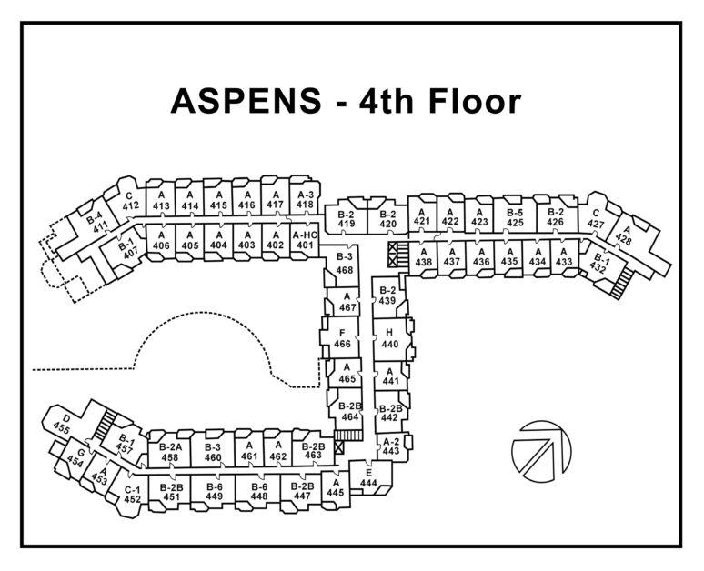 Aspen-4th-Floor plan Type-numbers
