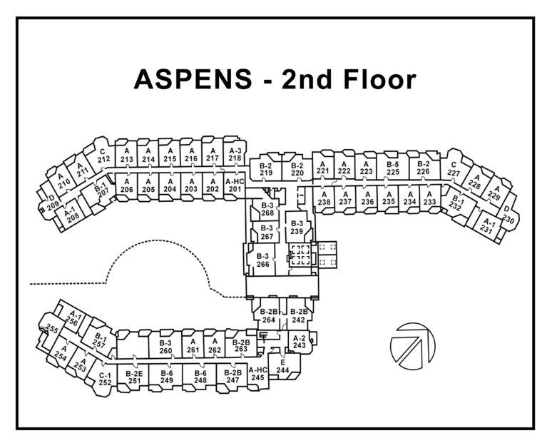 Aspens-2nd Floor plan -Numbers-unit-type