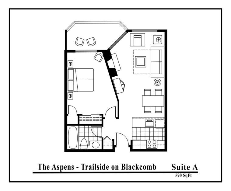 Aspens-suite-type-A 1 Bedroom