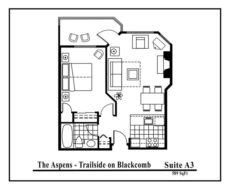 Aspens-suite-type-A3-1 Bedroom