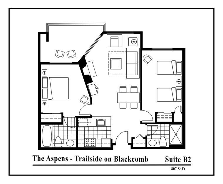Aspens-suite-type-B2-2 bedrooms