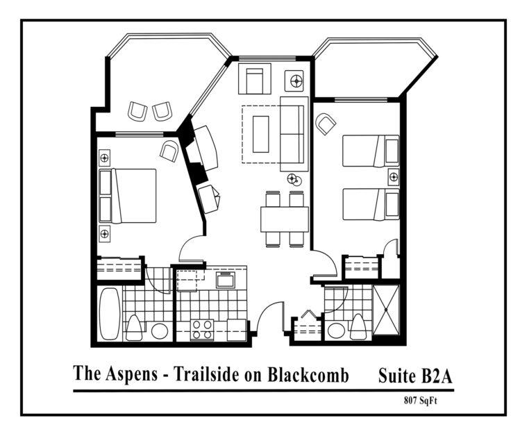 Aspens-suite-type-B2A-2 bedrooms