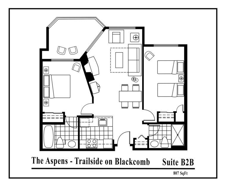 Aspens-suite-type-B2B-2 bedrooms