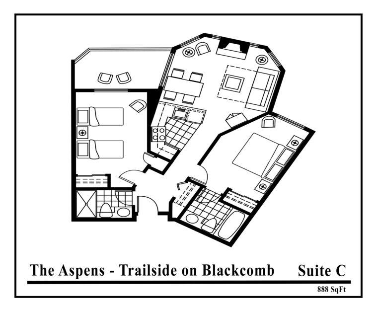 Aspens-suite-type-C-2 Bedrooms