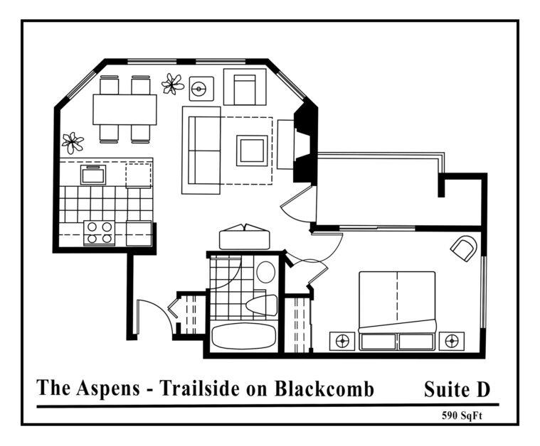 Aspens-suite-type-D-2 Bedrooms