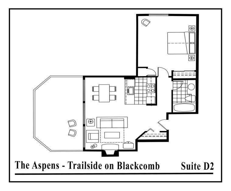 Aspens-suite-type-D2-2 Bedrooms