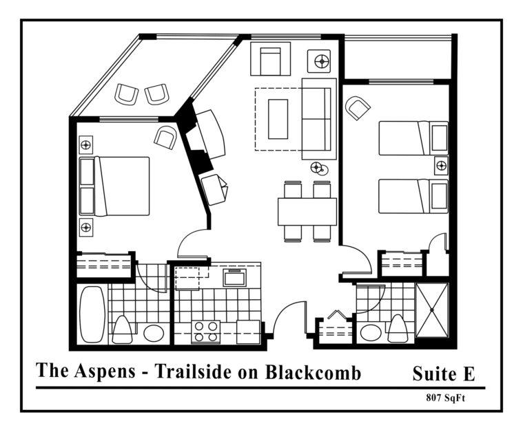 Aspens-suite-type-E-2 Bedrooms