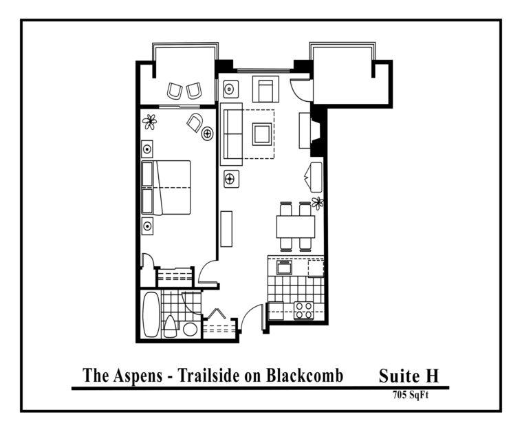 Aspens-suite-type-H 1 bedroom