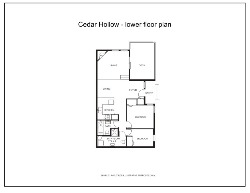 Cedar Hollow lower floor plan