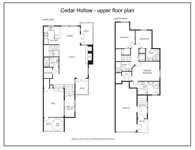 Cedar Hollow upper floor plan