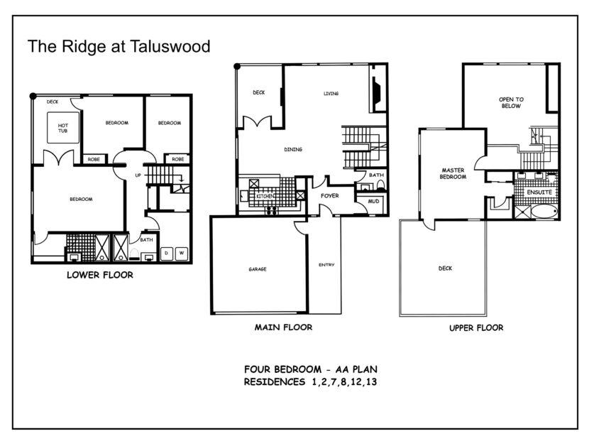 AA  Ridge at Taluswood Four-Bedroom---AA-floor Plan