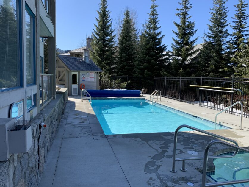 Greystone outdoor swimming pool