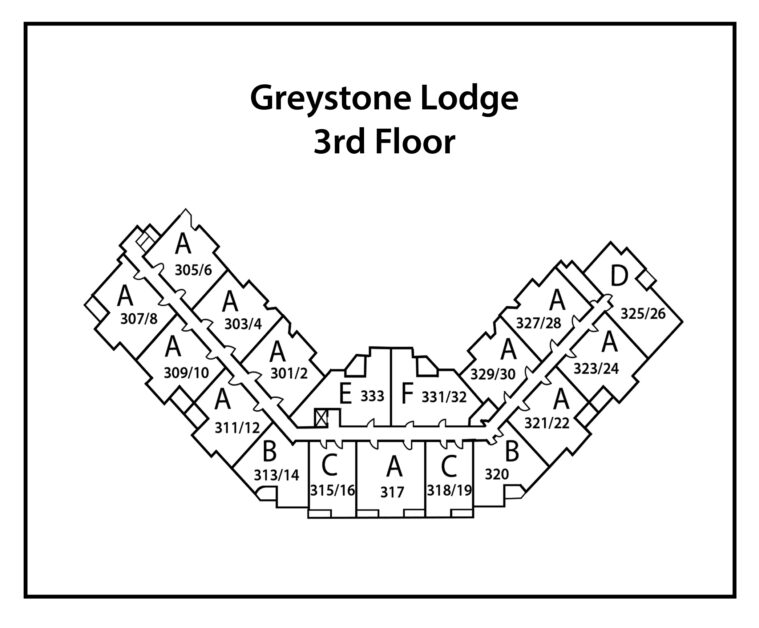 Greystone-Lodge-3rd-Level-building site plan (number-and-type)