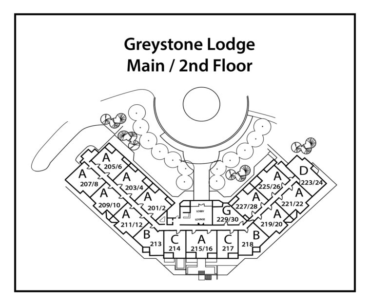 Greystone-Lodge-2nd Level-building site plan (number-and-type)