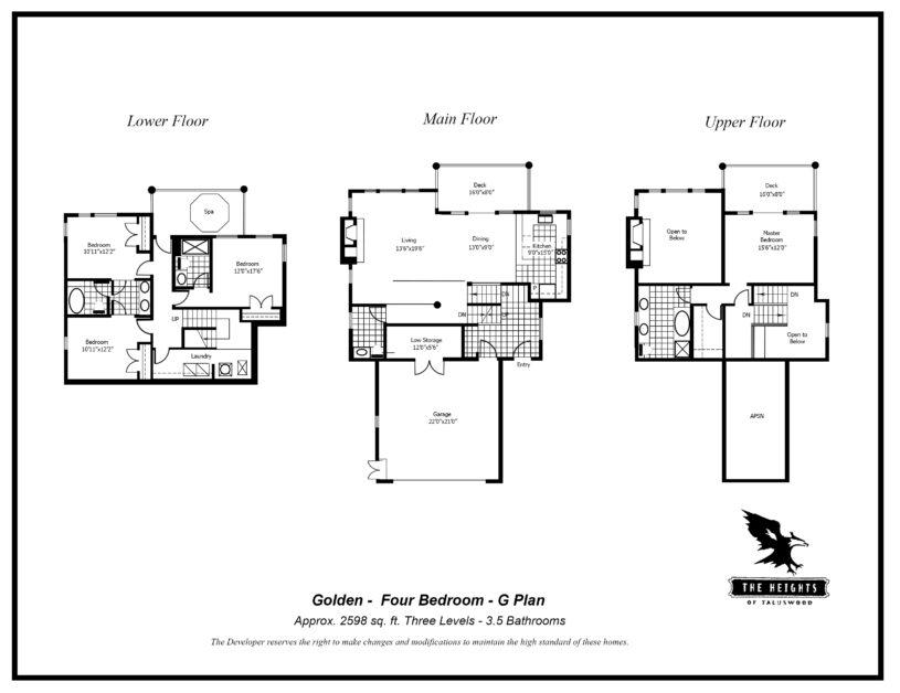 Heights-G--floor Plan 4 bedroom