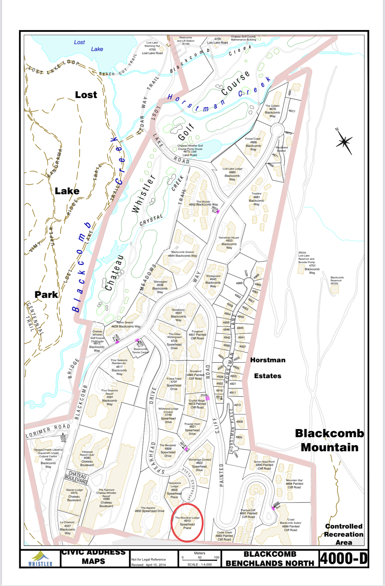 Woodrun Civic Address map