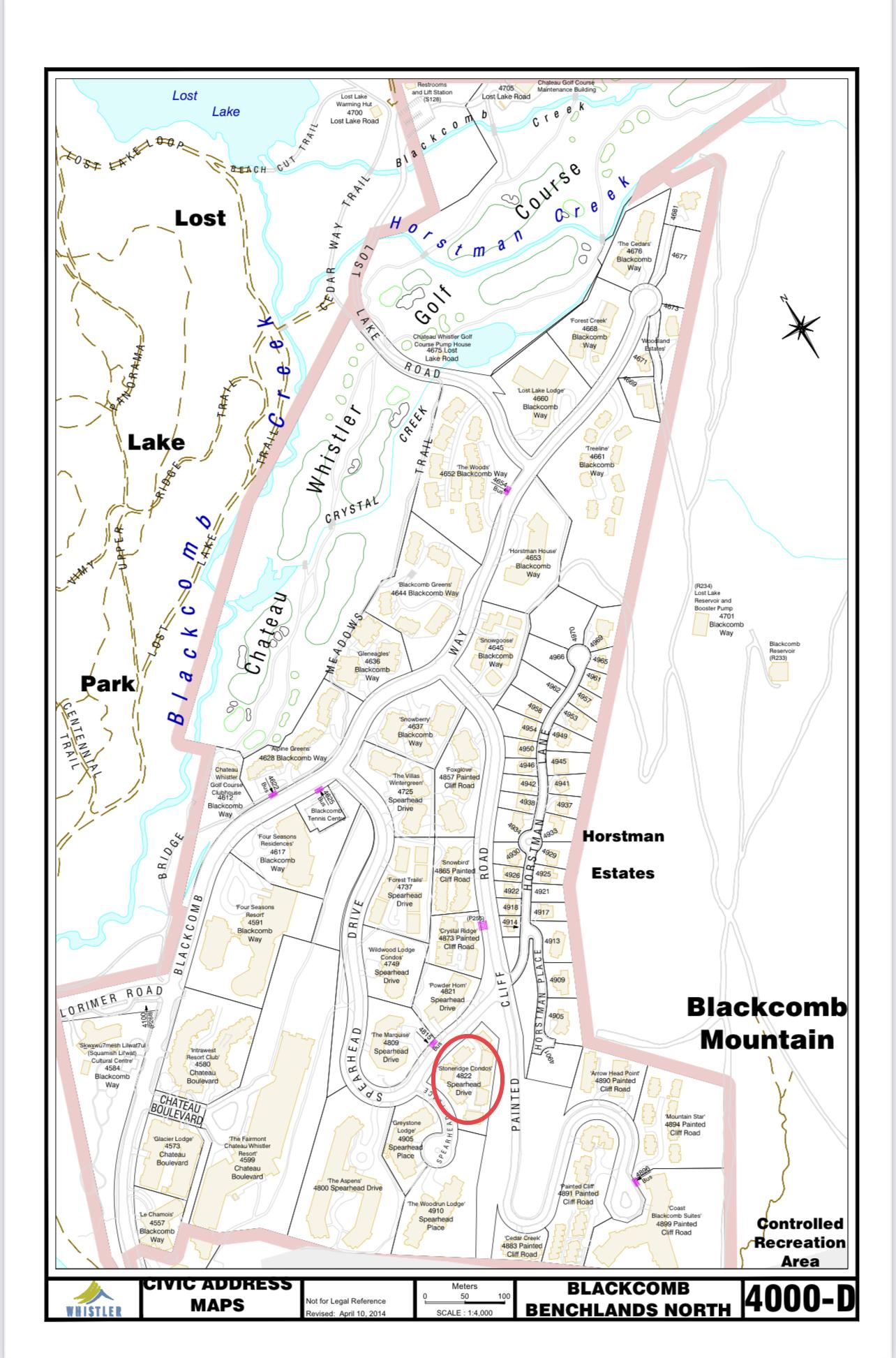 Stone Ridge Civic Address Map