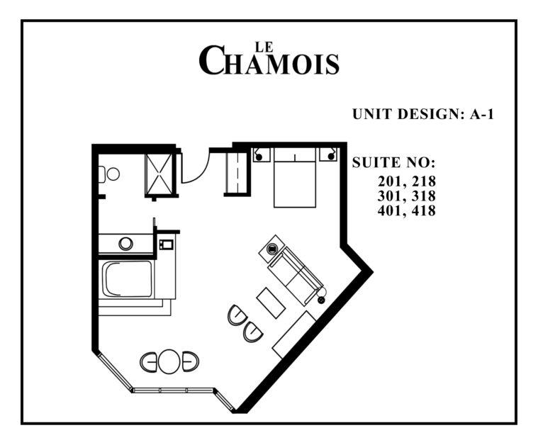 Le-Chamois-Suite A1 floor plan