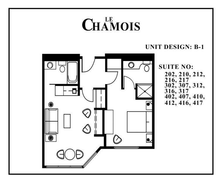 Le-Chamois-Suite B1 floor plan