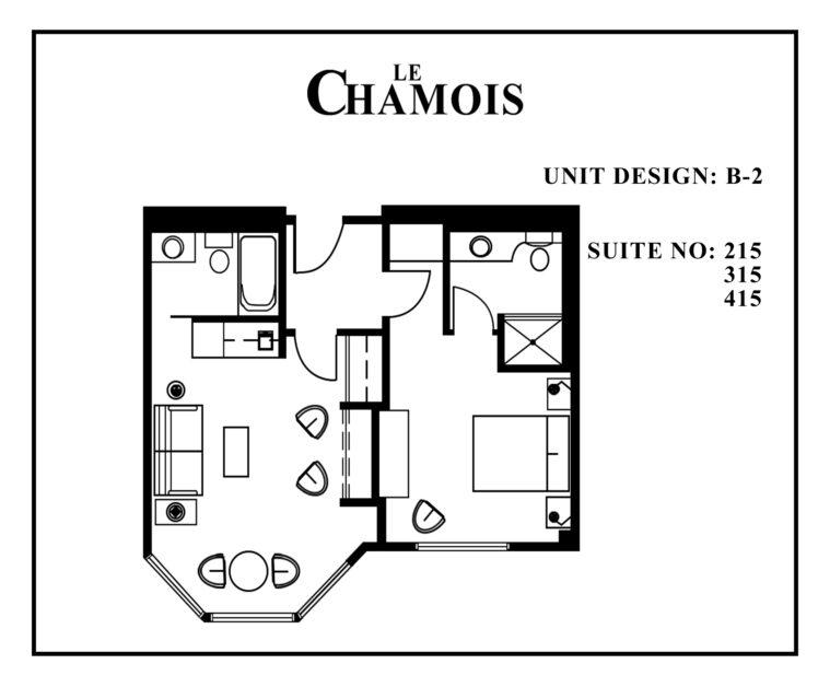 Le-Chamois-Suite B2 floor plan