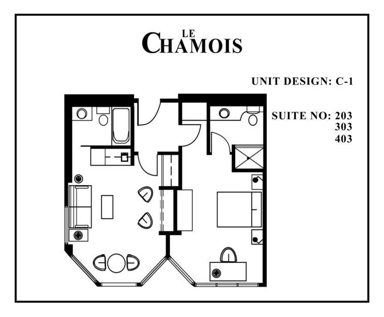 Le-Chamois-Suite C1 floor plan