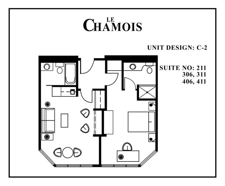 Le-Chamois-Suite C2 floor plan