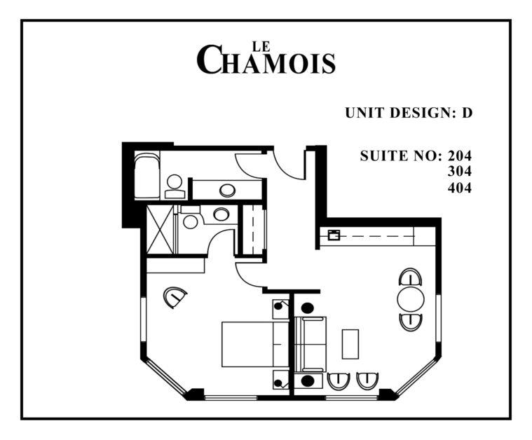 Le-Chamois-Suite D floor plan