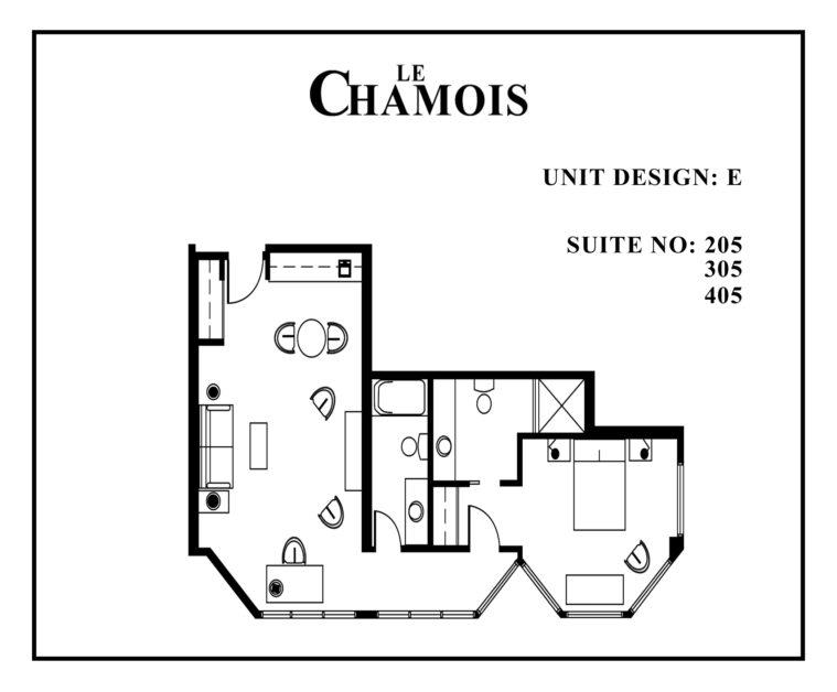 Le-Chamois-Suite E floor plan