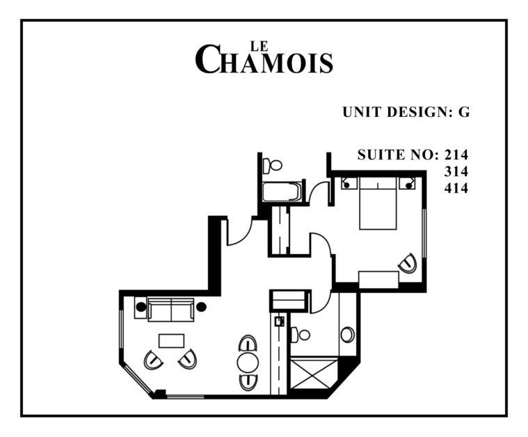 Le-Chamois-Suite G floor plan