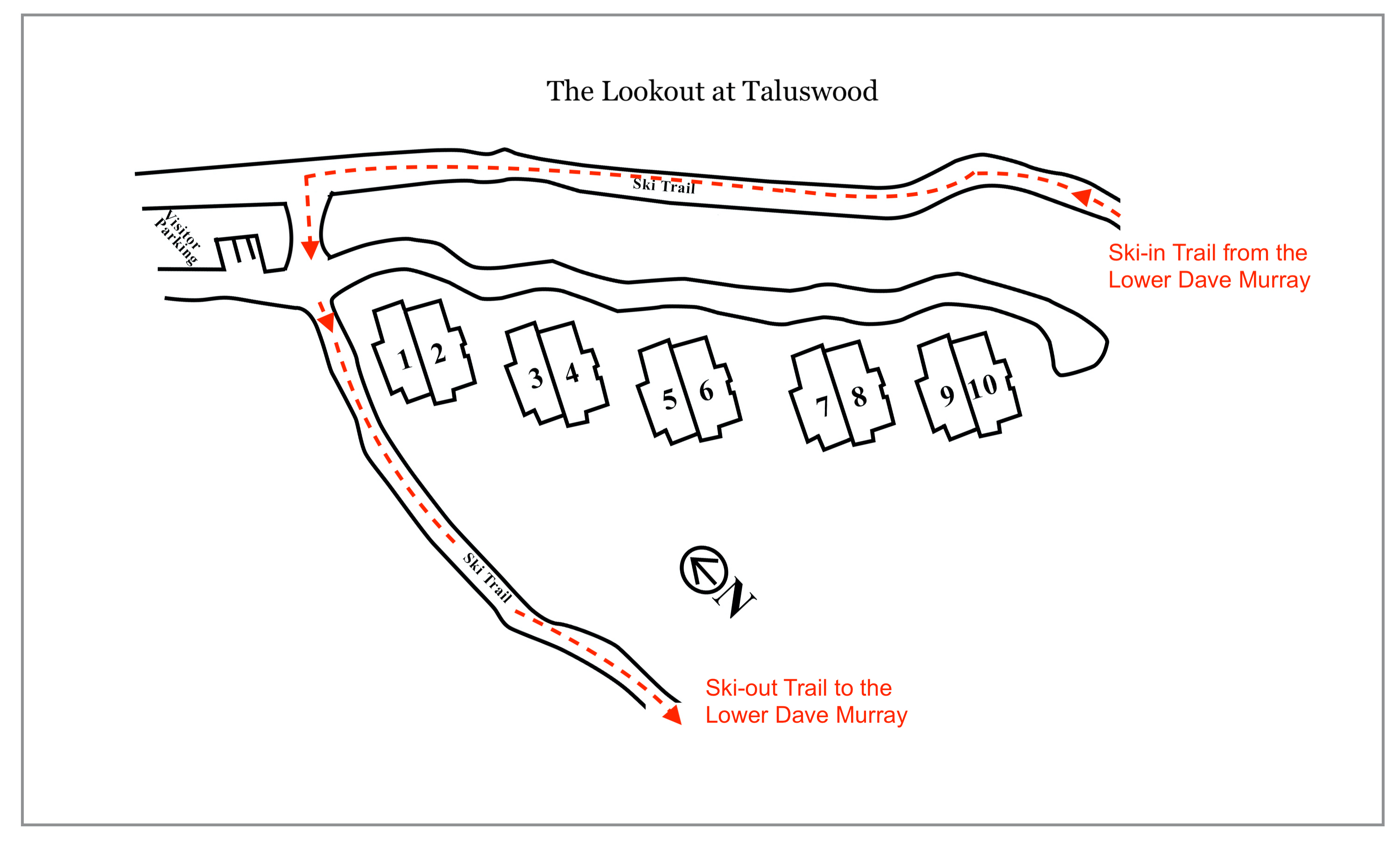 Lookout Taluswood ski in ski out trails