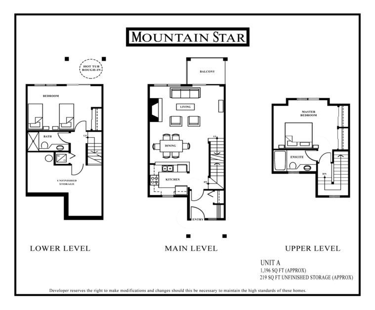 Mountain Star Floor plan Unit A
