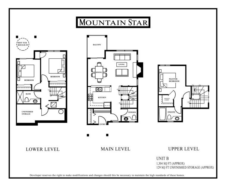 Mountain Star Floor plan Unit B