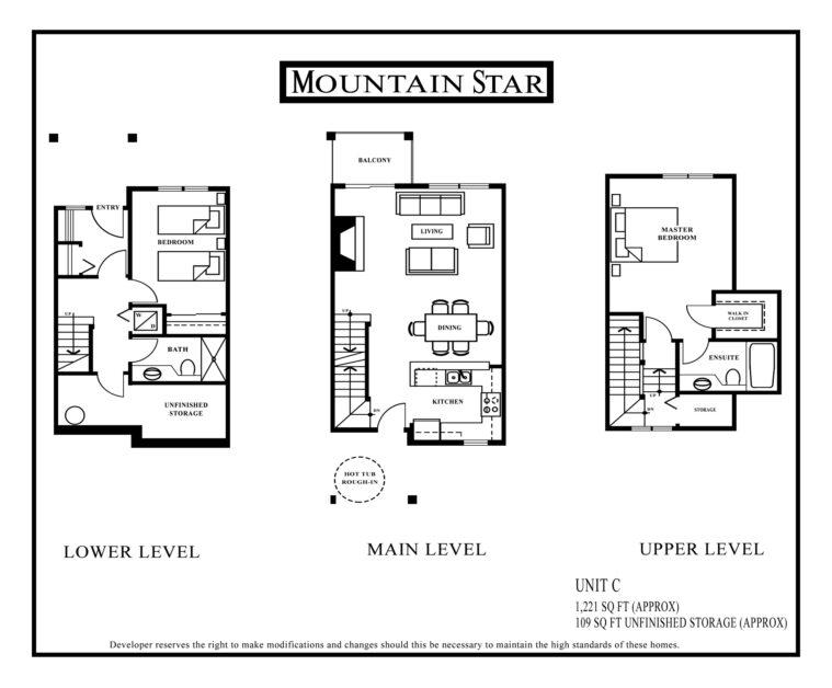 Mountain Star Floor plan Unit C