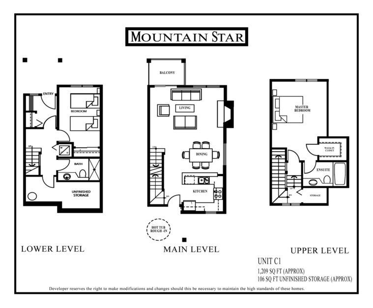 Mountain Star Floor plan Unit C1