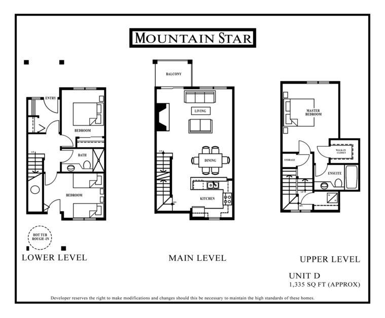 Mountain Star Floor plan Unit D