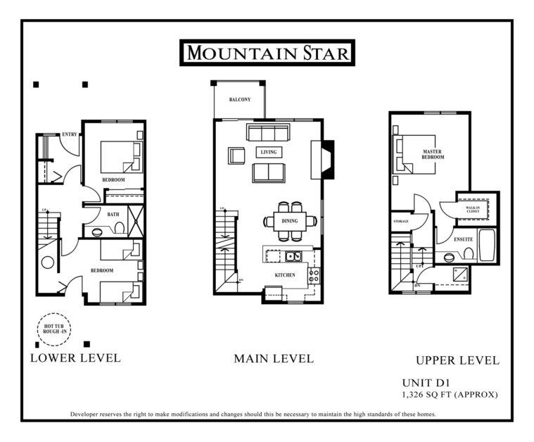 Mountain Star Floor plan Unit D1