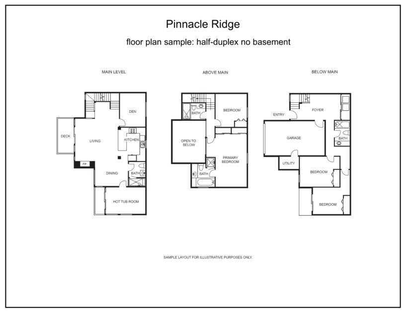 Pinnacle Ridge tall half duplex no basement
