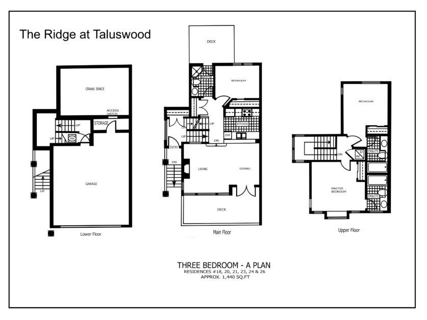 Ridge at Taluswood Three-Bedroom---A-Plan