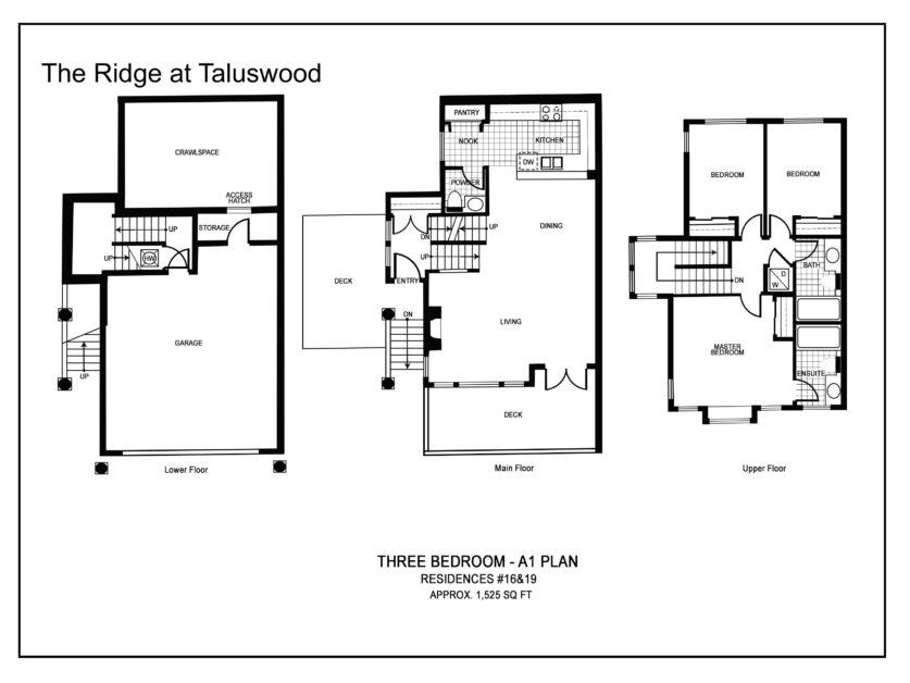 A1 Ridge at Taluswood Three-Bedroom---A1-Plan