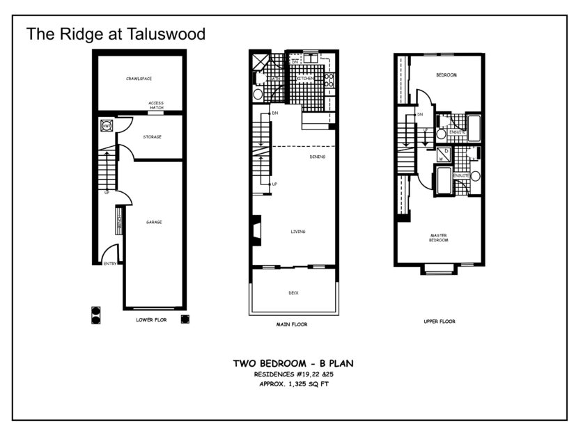 B Ridge at Taluswood Two-Bedroom---B-Plan