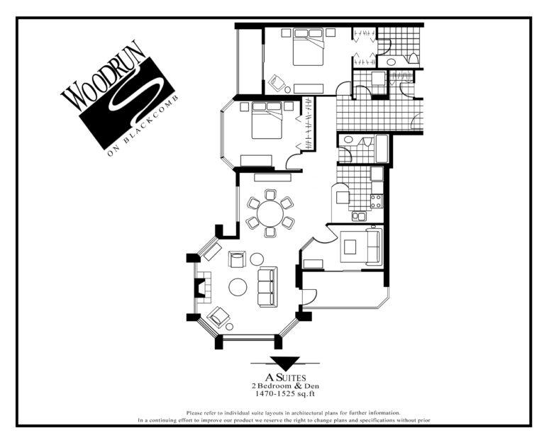 Woodrun Suite A floor plan